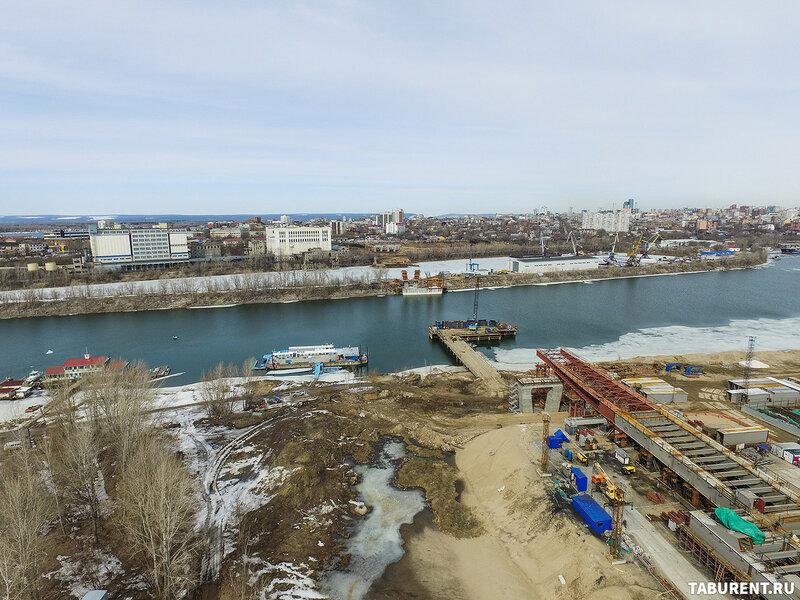 Фрунзенский мост. Апрель 2017