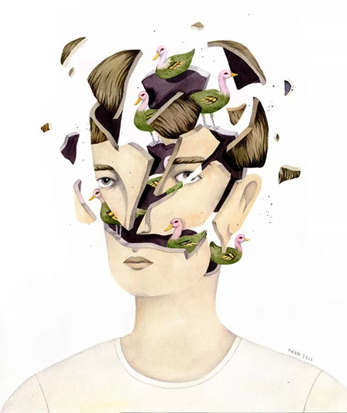 Exploding Heads: Illustrations by Andrea Wan