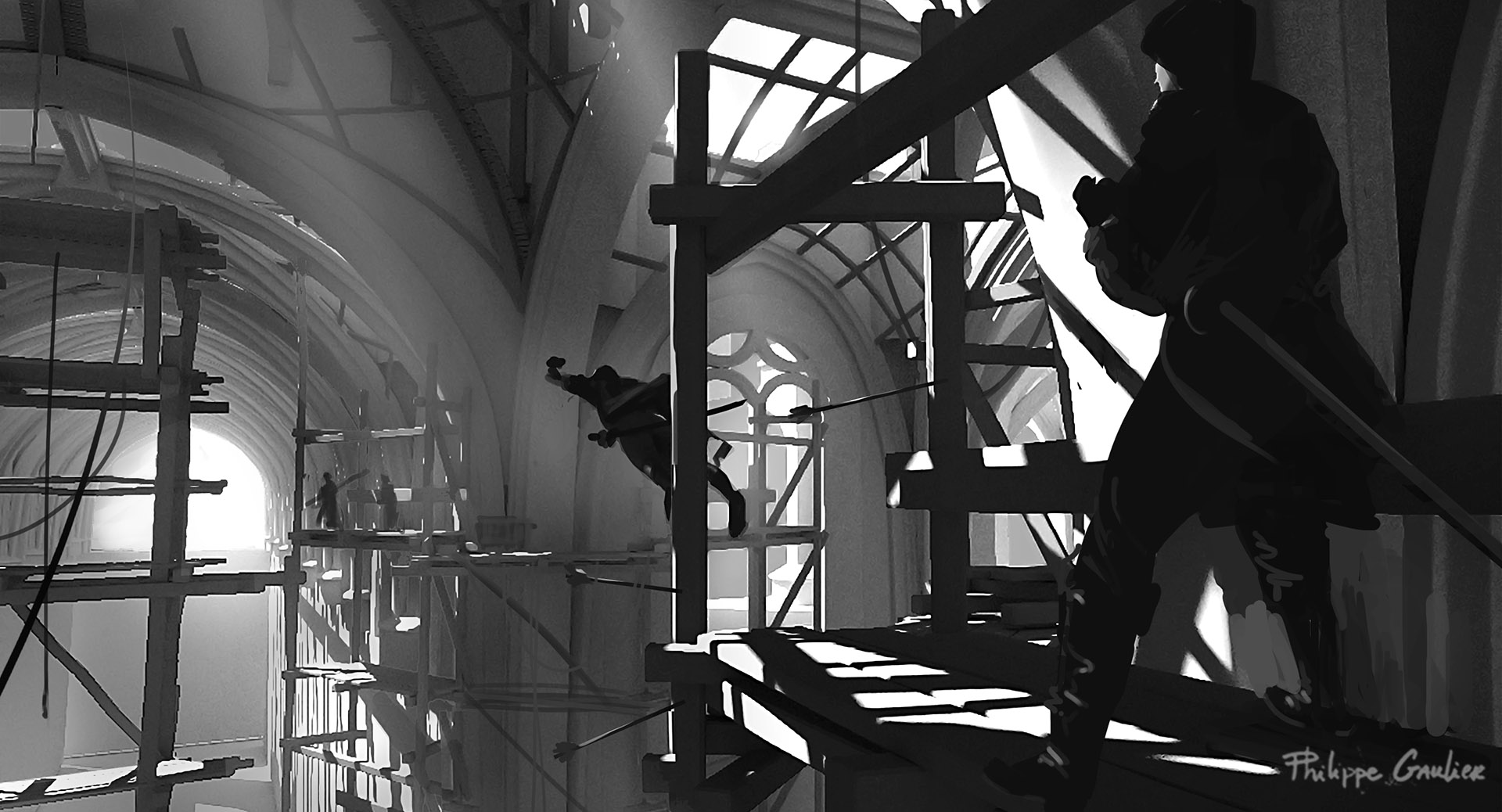 Assassin's Creed 2016 Film Concept Art by Philippe Gaulier