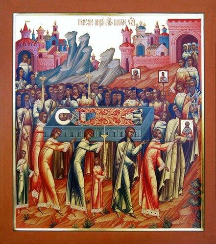 История мощей святителя Николая Мирликийского