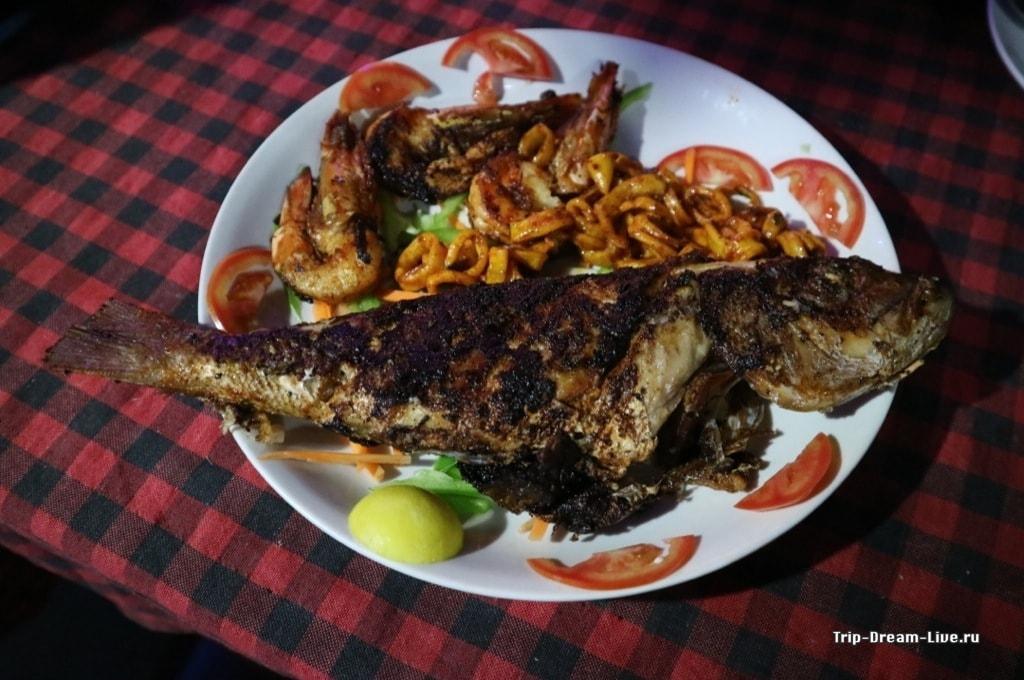 Наш ужин в Krishna Kripa Seafoods