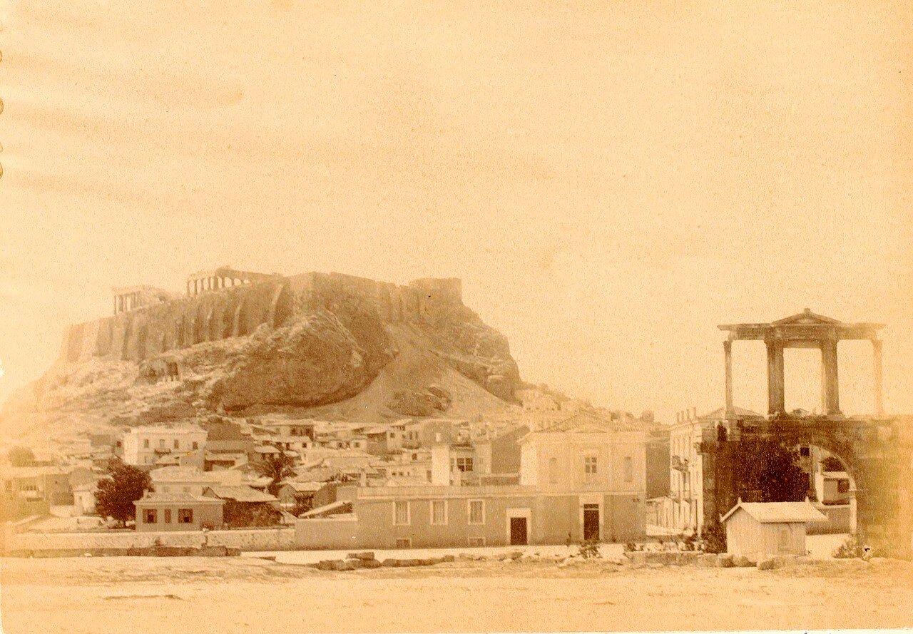 35. Афины. Акрополь и арка Адриана