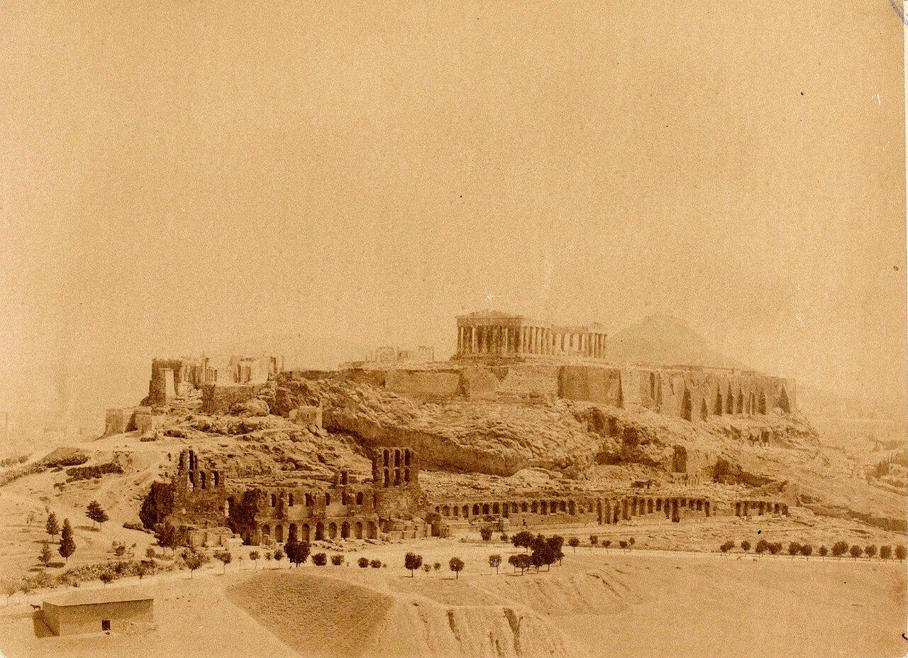 38. Афины. Вид на Акрополь от памятника Филопаппу
