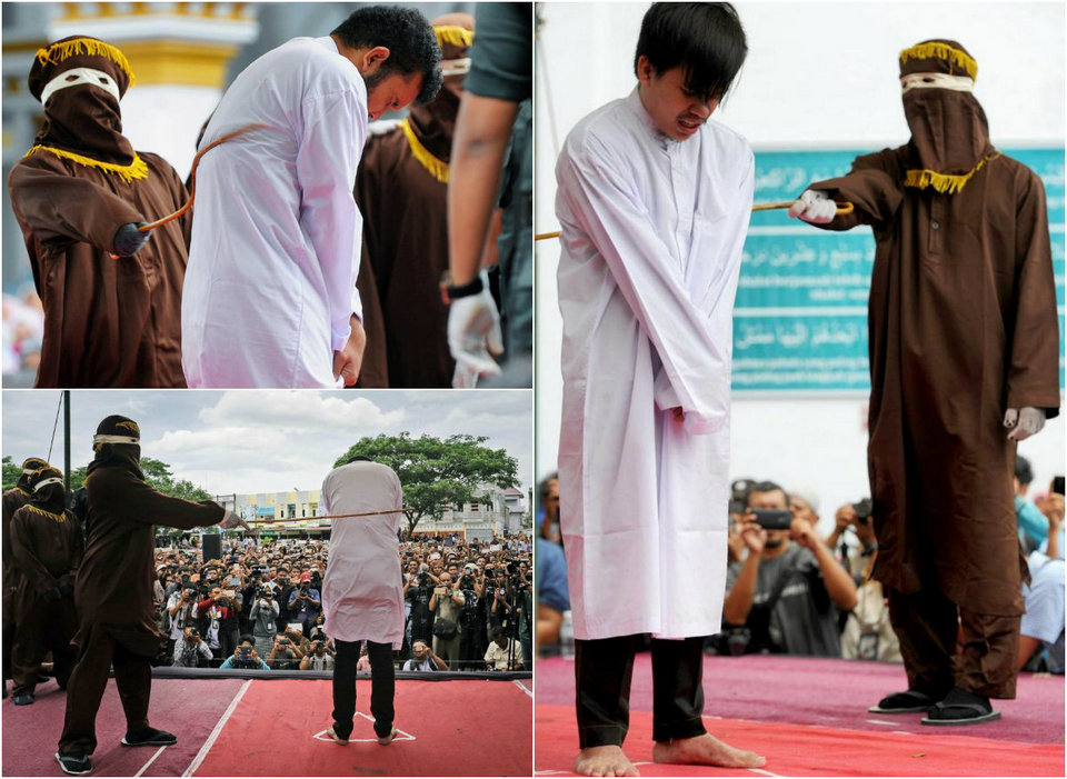 Gay couple publicly beaten with sticks in Indonesia