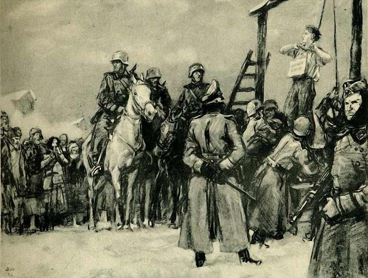 Казнь партизанки (Таня). 1942 г..jpg