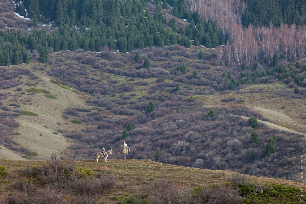 В середине мая в горах начинают появляться первые юрты: