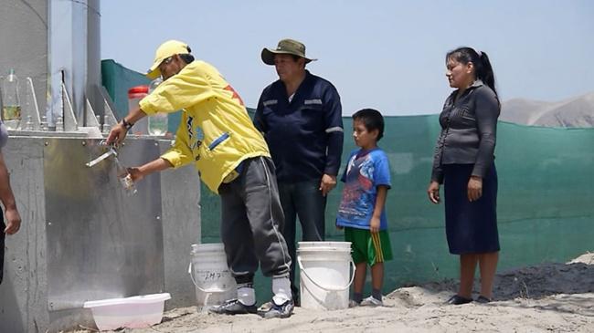 Затри месяца смомента запуска проекта биллборд собрал 9450 литров воды. Производительность каждого
