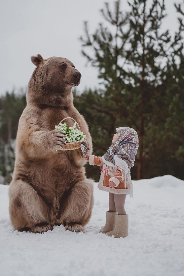 Фотограф Ольга Баранцева снимает рискованные фотосессии с настоящими дикими животными