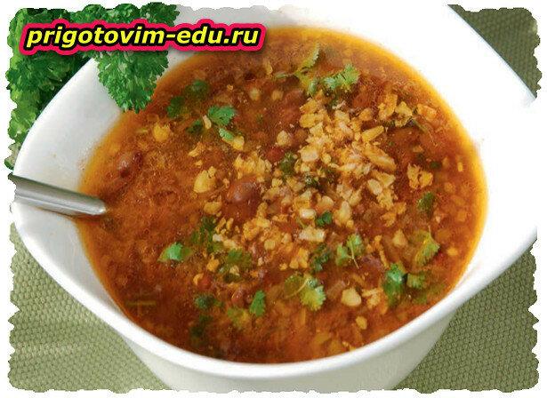 Лобахашу — суп из красной фасоли