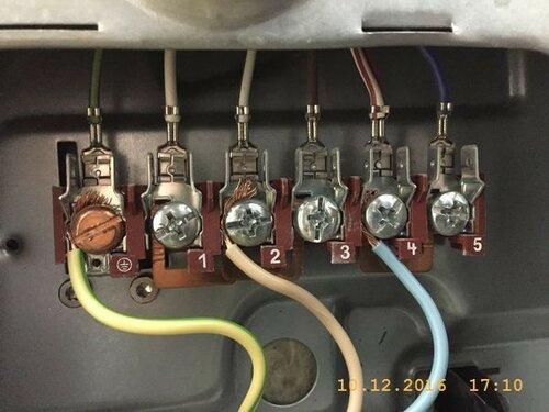 Проводка подключена к контактам