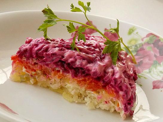Овощной торт салат с фото