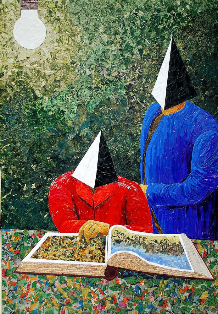 Paper Paintings by Albin Talik