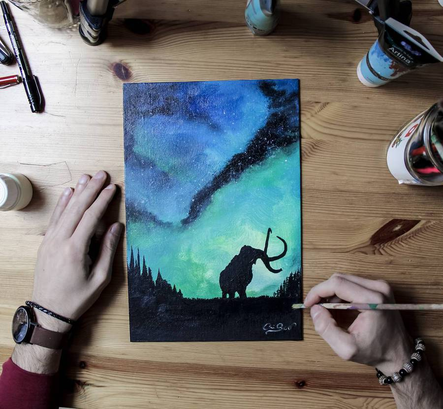 Poetic Paintings that Glow in the Dark