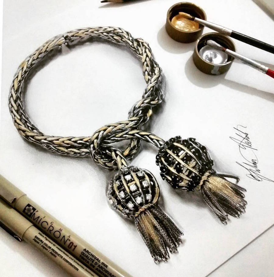 Hyper Realistic Jewellery Drawings