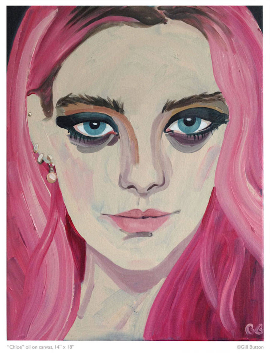 Cool Oil Painting Portraits of Models & Celebrities
