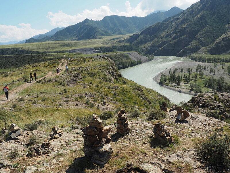 Алтай, слияние рек Катунь и Чуя (Altai, Katun and Chuya merging rivers)