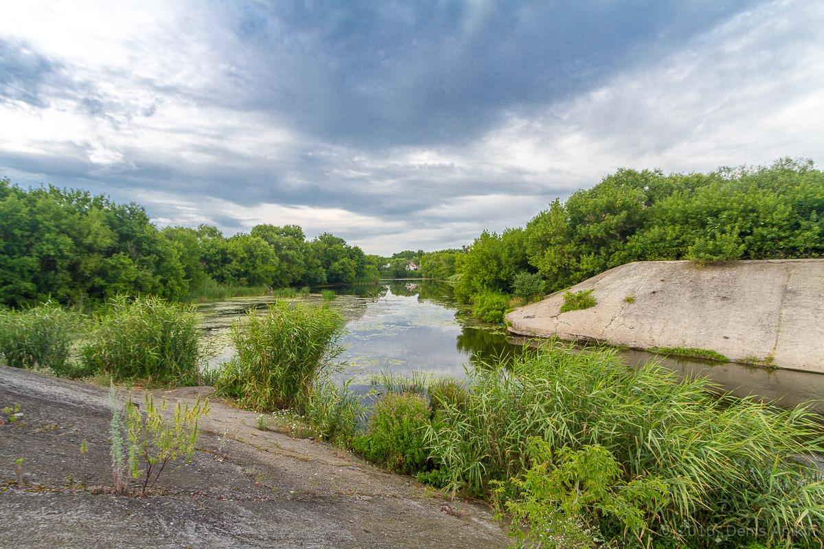 Калининск река Баланда плотина фото 2