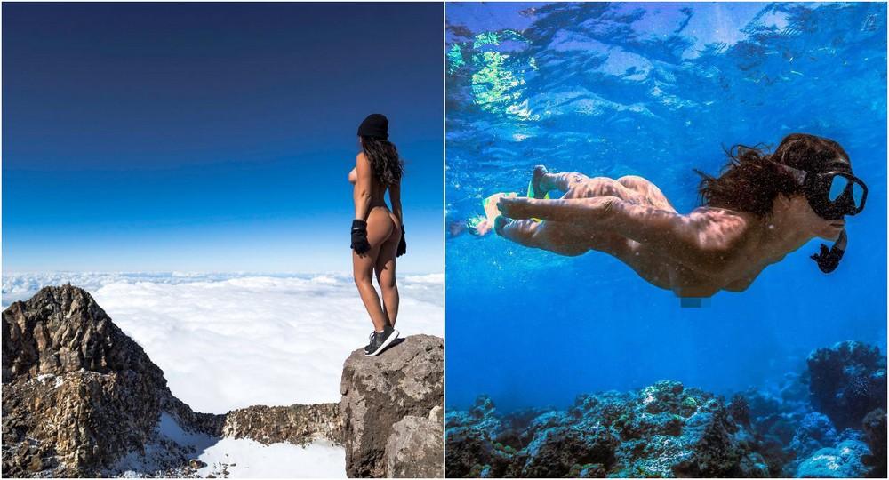 Модель Playboy вызвала возмущение новозеландцев, снявшись голой на священной горе Таранаки