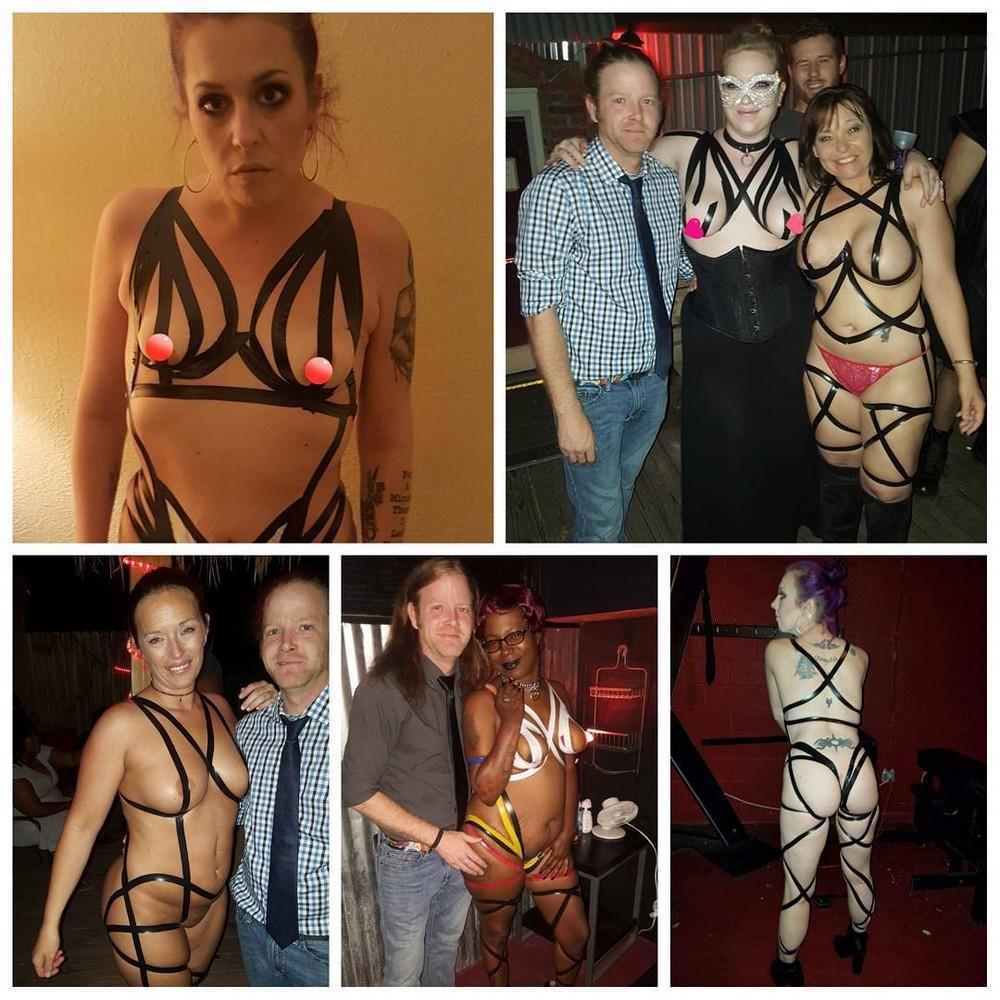 Новый модный тренд: изолента вместо одежды