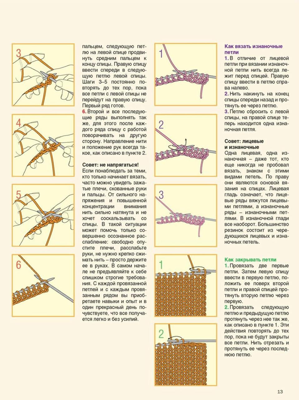 Все виды петель в вязании спицами