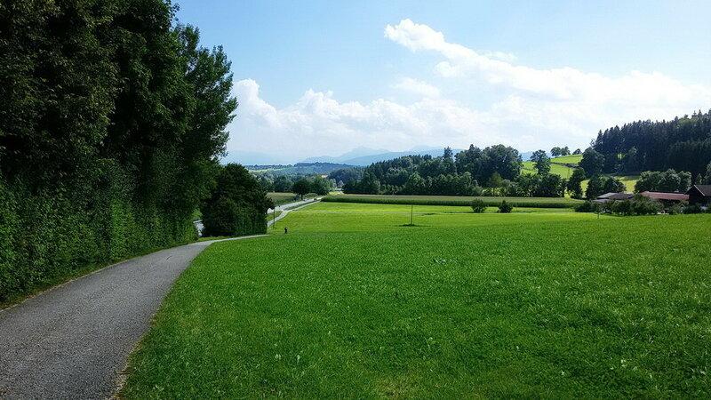 На велосипеде вокруг Бад Райхенхаля и Зальцбурга.