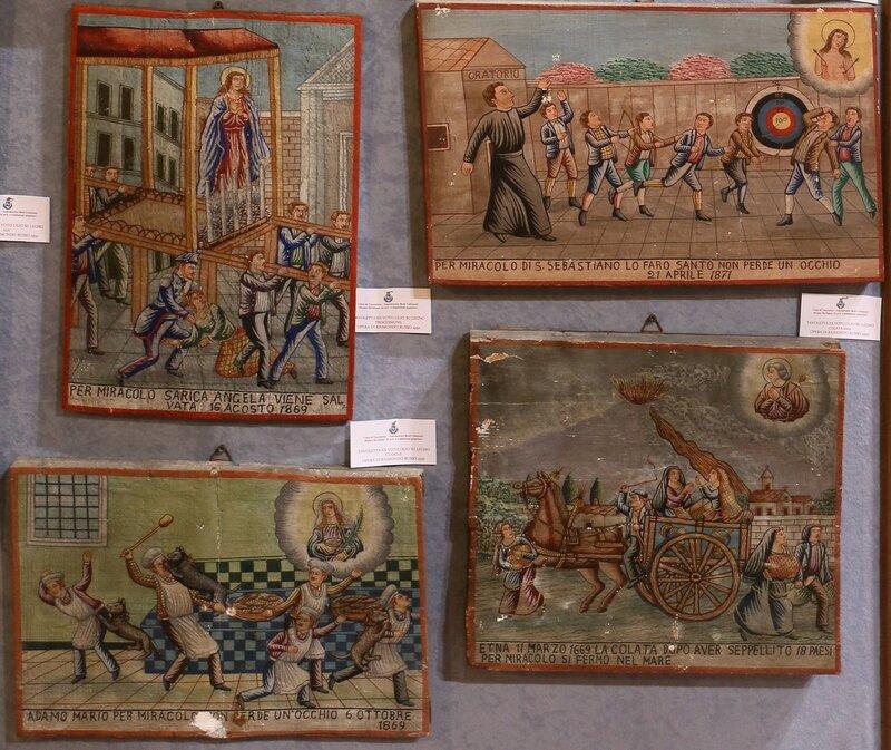 Taormina. The Museum of popular arts and traditions (Museo Siciliano di Arte e Tradizioni Popolari). Miniatures