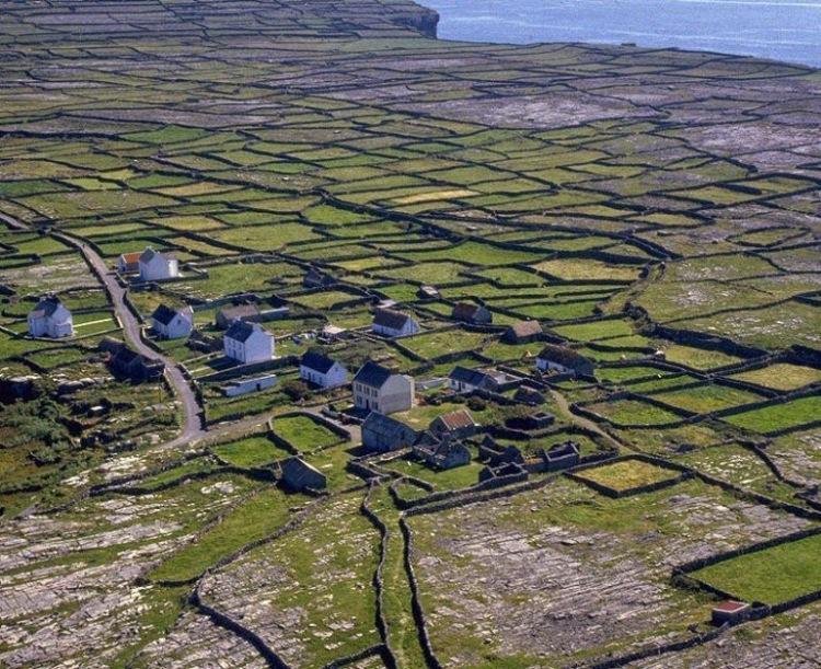 14. Одним из красивейших мест с множеством каменных стен является Аран. Это три острова, находящиеся