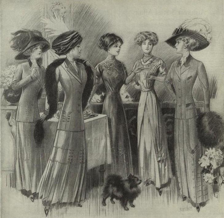 Мода десятилетий XX века (43 фото)
