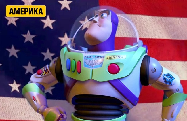 © Disney  Вовторой части франшизы Базз Лайтер произносит речь для других игрушек Энди, чтобы