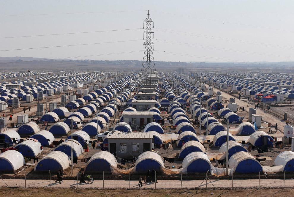 10. Недавно в лагере даже заработала школа. Многие из мосульских детей впервые за несколько лет