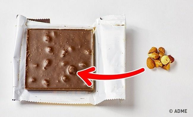 «Очень много орехов»— такая надпись красуется набольшинстве плиток шоколада. Насамом деле вобычн
