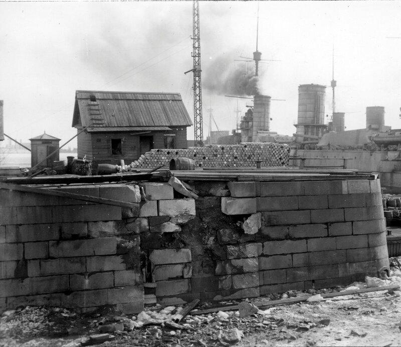 Зимняя стоянка линкоров. 1921 г.
