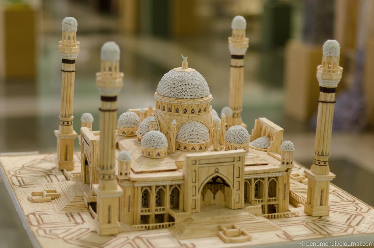 Мечеть из спичек своими руками 26