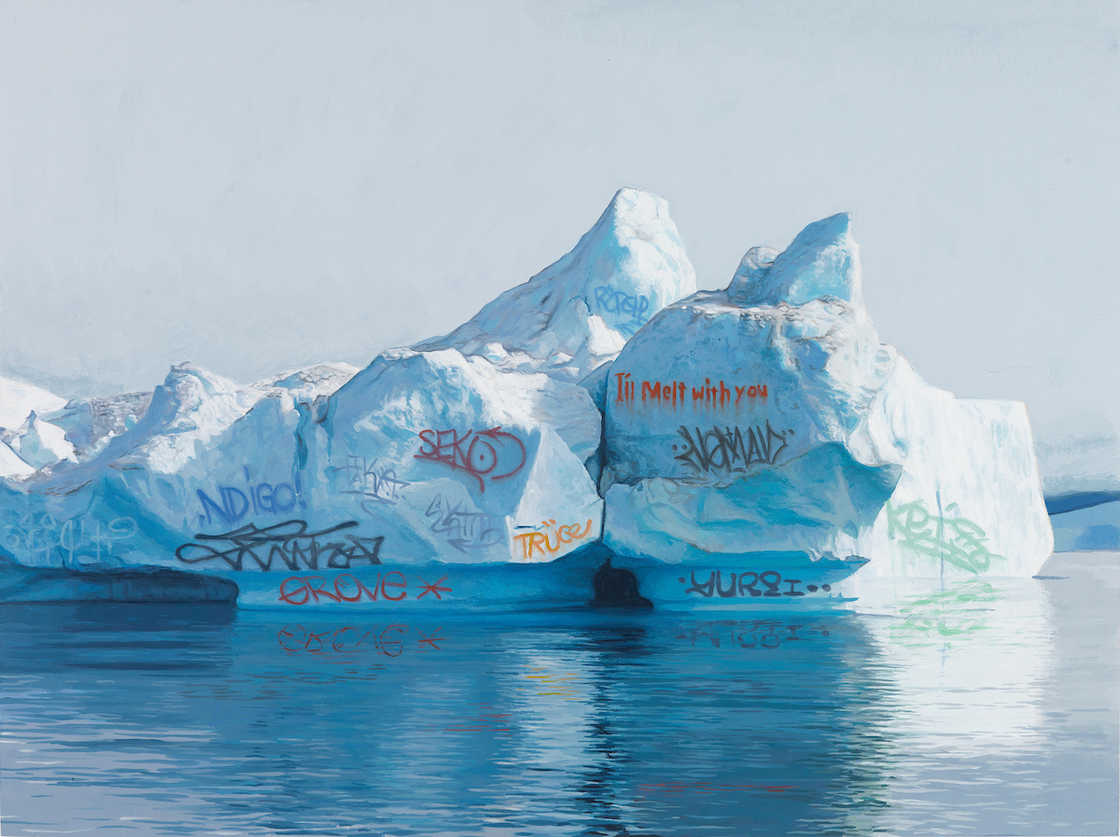 Graffiti on Earth - Josh Keyes paints graffiti on the tail of whales