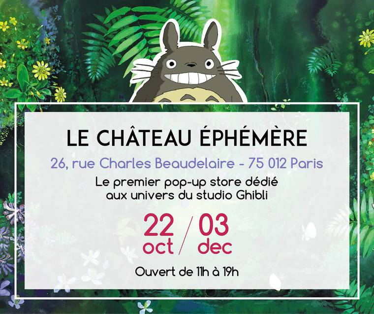 A pop-up store dedicated to the worlds of Studio Ghibli will open in Paris