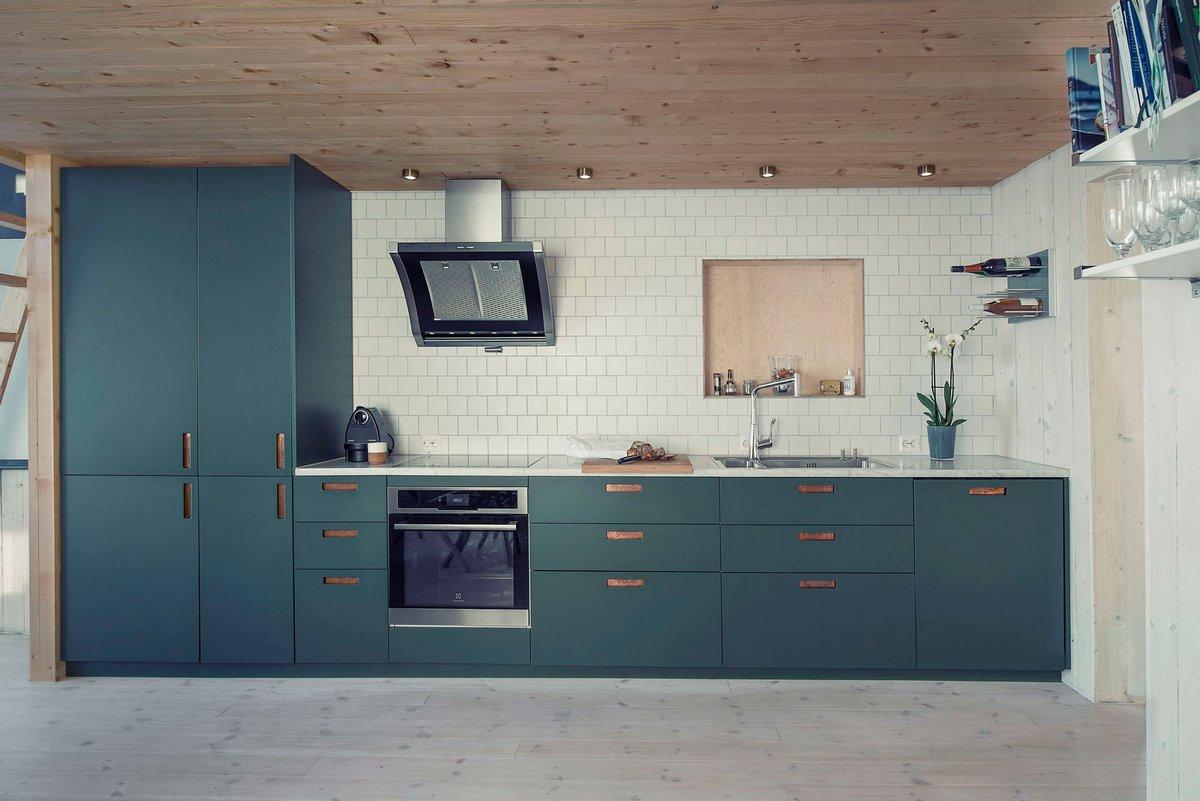 кухня в норвежском частном доме
