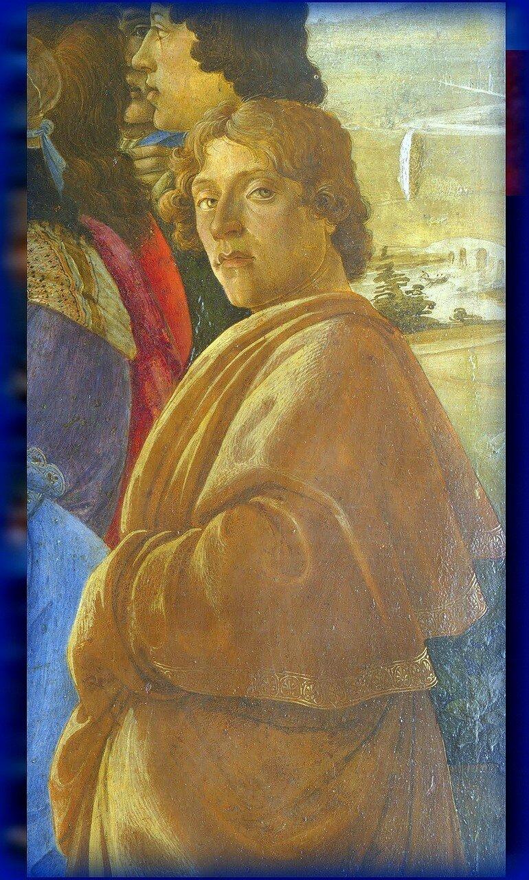 """Автопортрет, Sandro Botticelli. Zanobi Altar.( Фрагмент картины """"Поклонение волхвов"""").jpg"""
