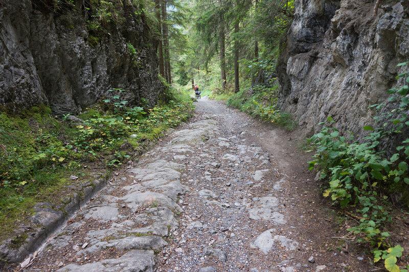 римская дорога (romerweg) на перевале Фернпасс (Fernpass)