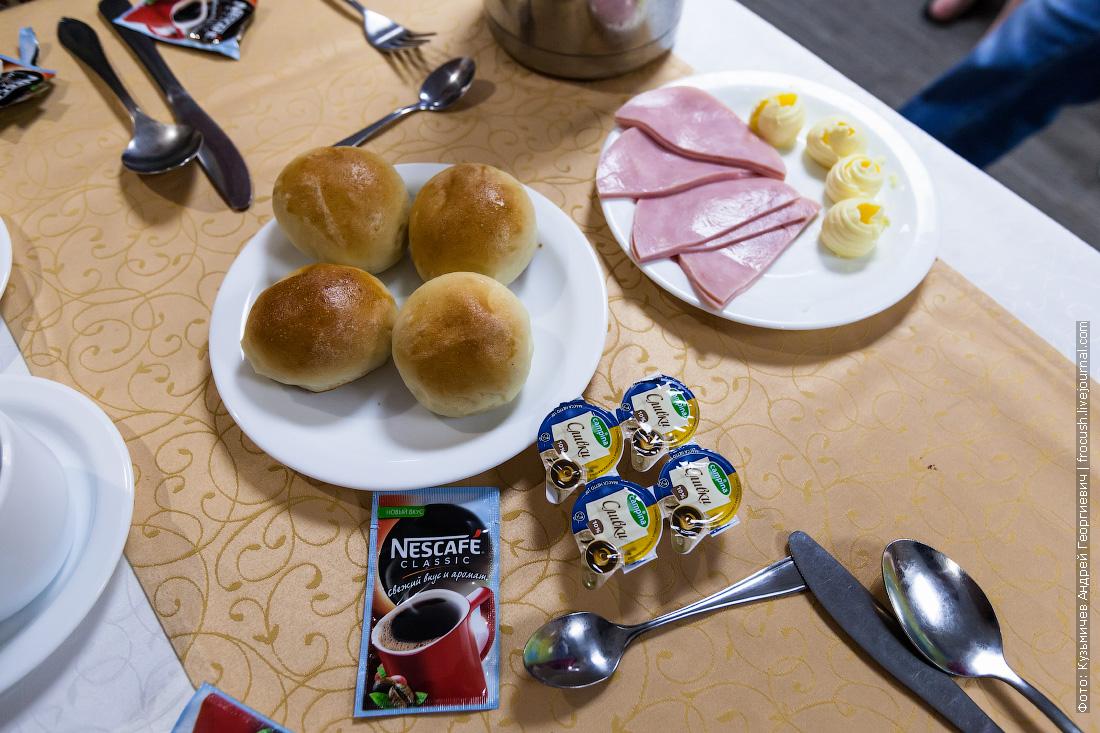 завтрак на теплоходе русь великая