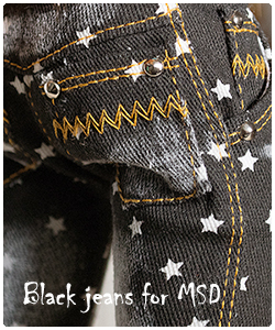 2017 black jeans for MSD