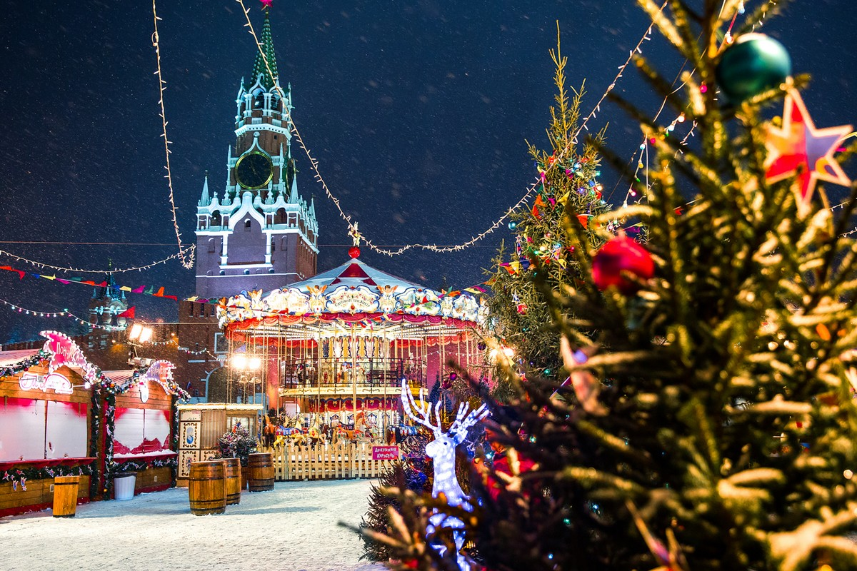 Новогодняя Москва на снимках Натальи Драчинской