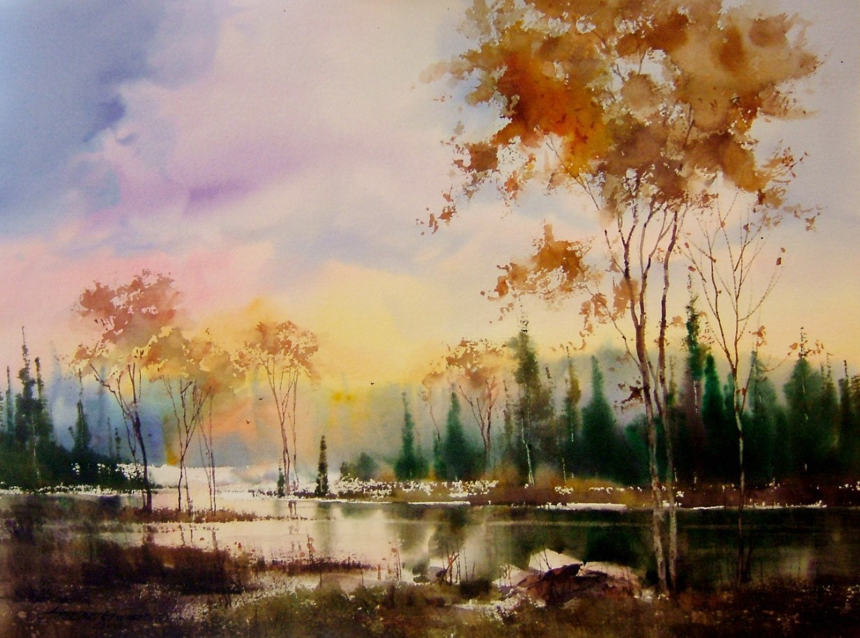 Акварельные пейзажи от художника Sterling Edwards