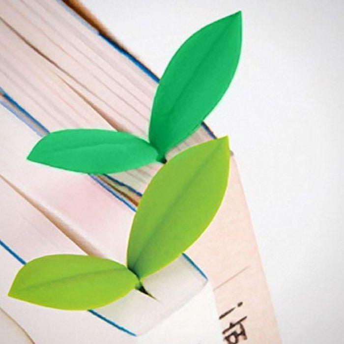 2. Закладки растения Это могу быть как маленькие одиночные листочки, так и настоящие пластмассовые и