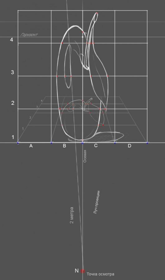 24. Таким хитрым способом мы находим все точки пересечения на нашей сетке. Точки которые попадают на