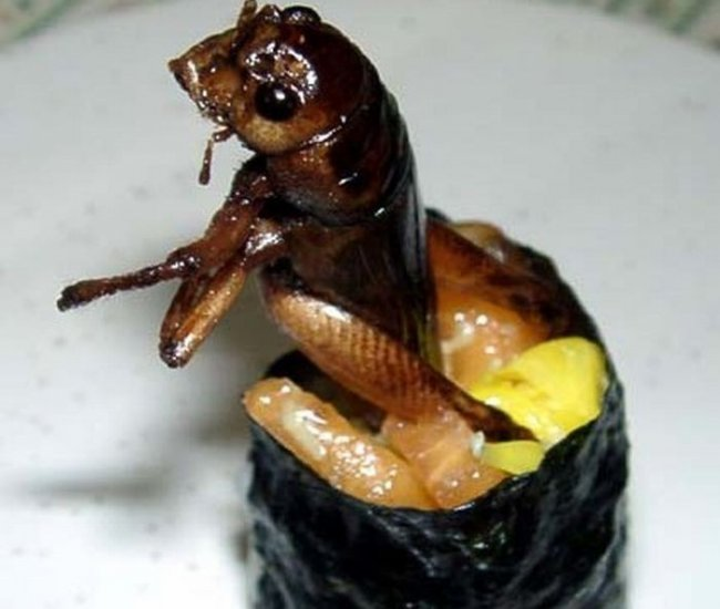 Суши с насекомыми