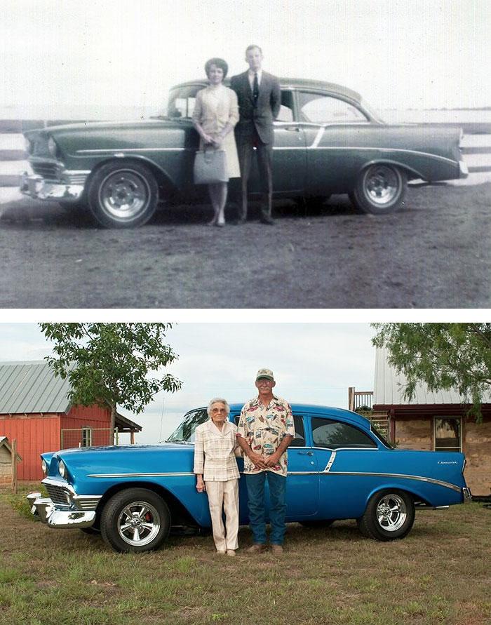 Пара пересняла фото со своей свадьбы спустя 70 лет.