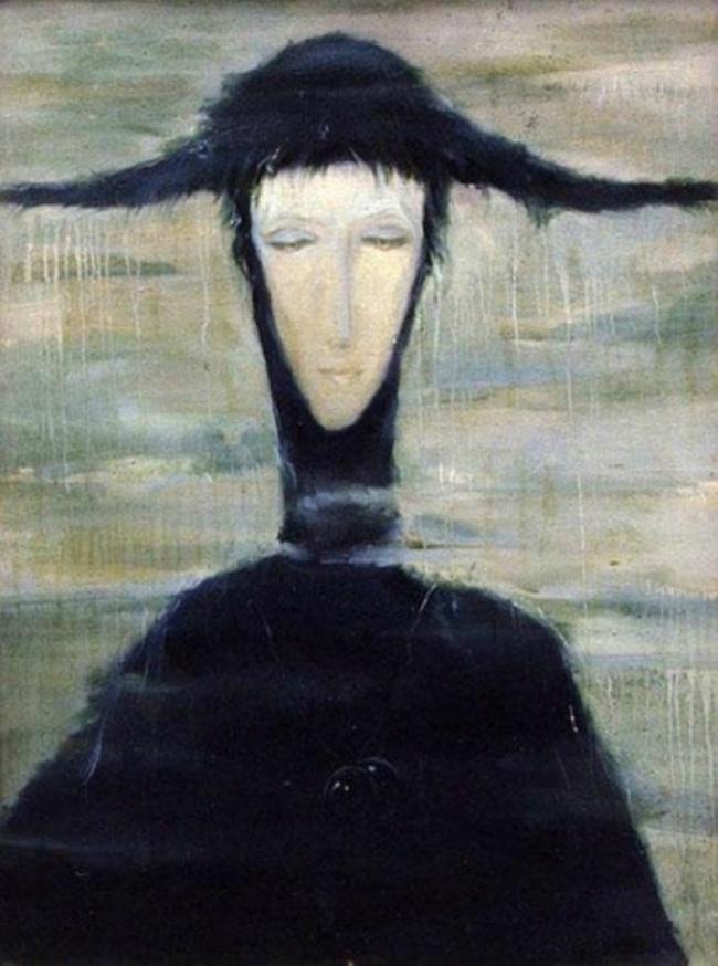 © livemaster  Картина «Женщина дождя», написанная винницкой художницей Светланой Телец, также