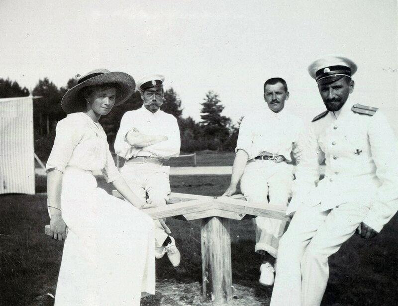 Grand Duchess Olga Nikolaevna and Pavel Voronov, ca. 1912