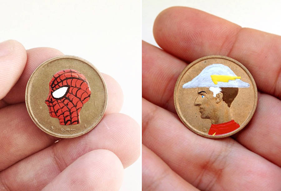 Coins Transformed in Pop Art Characters