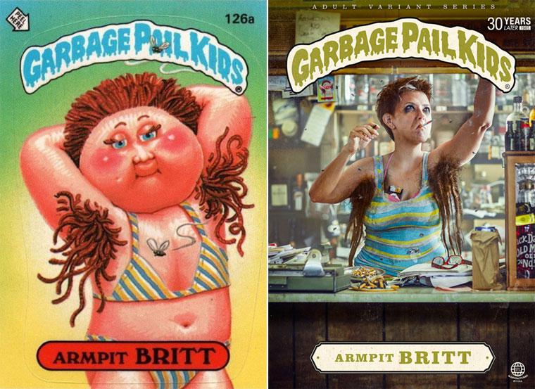 Garbage Pail Kids - Deux creatifs recreent les cartes cultes et trash des Crados
